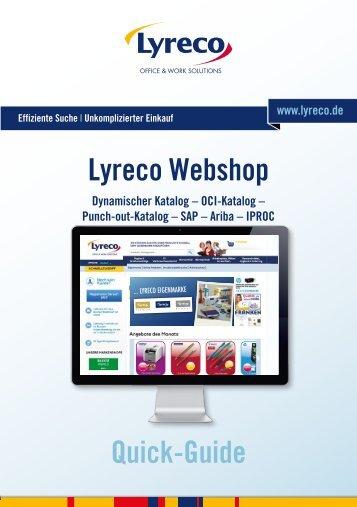 Lyreco QuickGuide Dynamischer Katalog