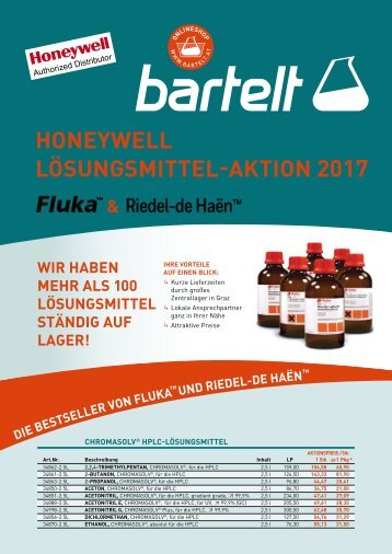 Honeywell - Lösungsmittelaktion 2017