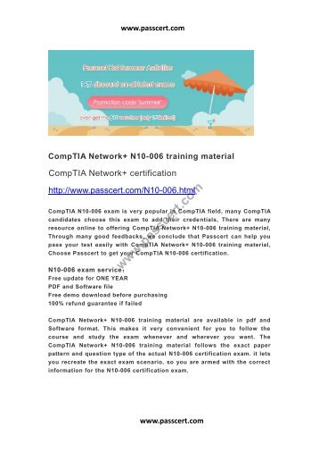 CompTIA Network+ N10-006 training material