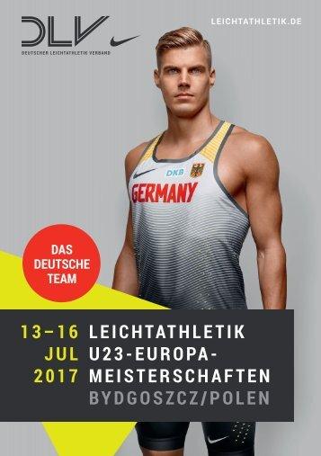 Das deutsche Team für die U23-EM 2017 in Bydgoszcz