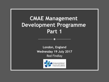 Day 3 - CMAE Development Programme Part 1 - Legal