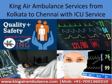 King Air Ambulance Services from Kolkata to Chennai with Medical ICU Facilities