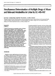Simultaneous Determination of Multiple Drugs of Abuse and ...