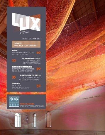 LUX 292 - LUX, la revue de l'éclairage (Juin 2017)