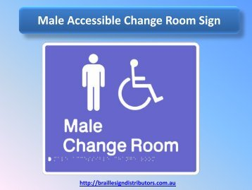 Male Accessible Change Room Sign