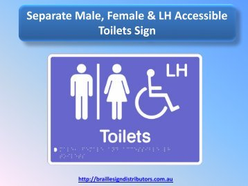 Separate Male, Female & LH Accessible Toilets Sign