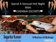 Chennai Escorts partner for entertainment