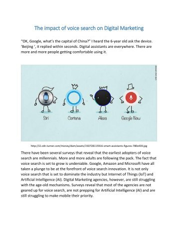 The impact of voice search on Digital Marketing