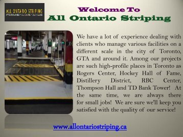 Striping Company in Ontario