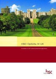 HSC Optivita XI UK - Verkaufsprospekt - S. Schuck Dienstleistungen
