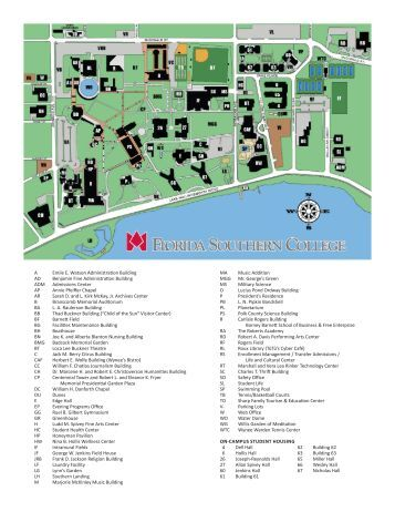 Florida Southern College Map.Map Of Florida Southern College Odsepatu
