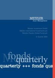 Quartalsbericht IV 2004 - S. Schuck Dienstleistungen