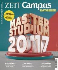 ZEIT CAMPUS RATGEBER Masterstudium