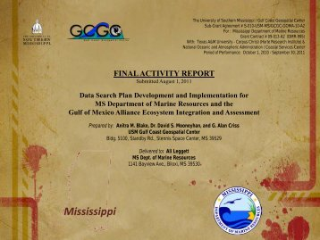 Mississippi - Gulf of Mexico Alliance