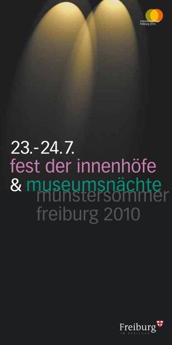 münstersommer freiburg 2010 23.-24.7. fest der innenhöfe - co2libri