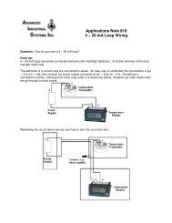 Wiring a 4 - 20 mA - Advanced Industrial Systems, Inc.