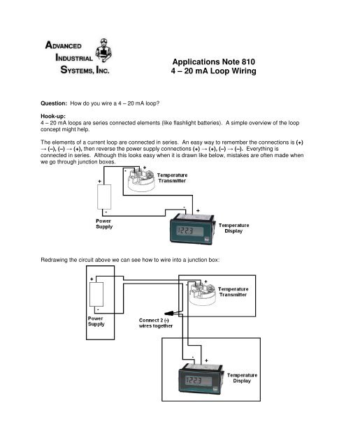 flashlight wiring diagram wiring a 4 20 ma advanced industrial systems  inc  wiring a 4 20 ma advanced