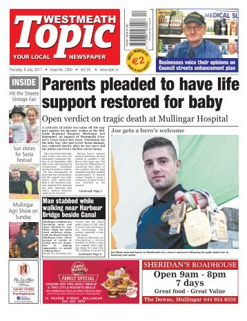 Westmeath Topic - 6 July 2017