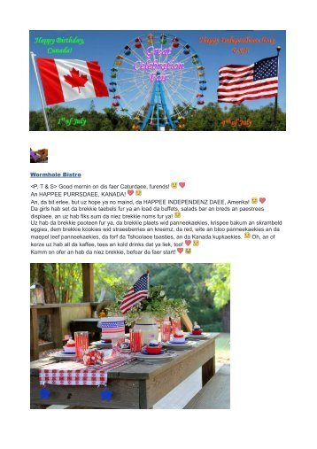 Canada Day and 4th of July Fair