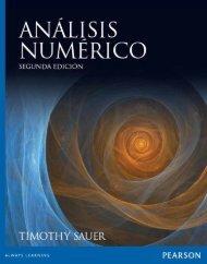 Análisis numérico,  Timothy Sauer
