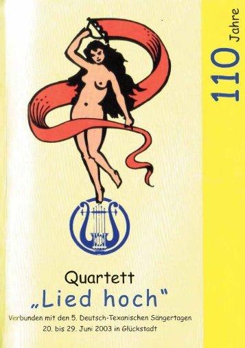 """Quartett """"Lied hoch"""" 110 Jahre"""