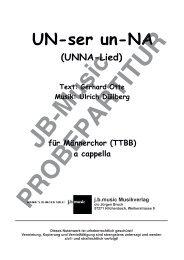 UN-ser un-NA  (UNNA-Lied) für Männerchor TTBB