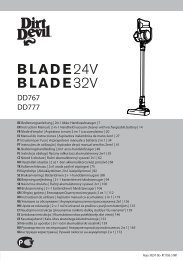 Dirt Devil Blade 24V - Bedienungsanleitung für Dirt Devil Blade 24V