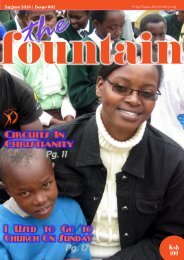 The Fountain Magazine Issue 01, August 2013