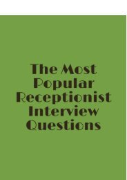 Sample Interview Questions With Answers