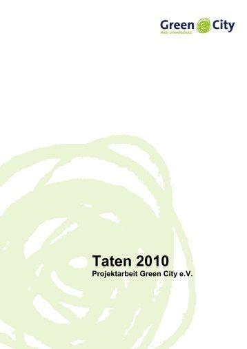 Tätigkeitsbericht 2010 - Green City eV