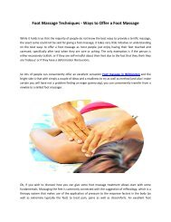 Asian Massage in Wilmington   Foot Massage Therapy   Oriental Massage De