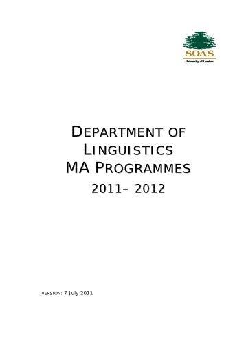 2011-12 Course Handbook - Hans Rausing Endangered ...
