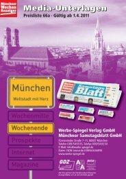 Preisliste Nr. 66a 2011 Samstag WSP - Münchner Wochenanzeiger