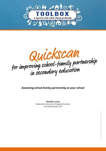Tool Quickscan Secundary educationDEF