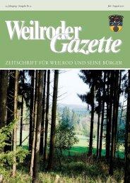 Weilroder Gazette Juli/August 2017