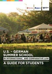 Welcome Broschuere U.S.-German Summer Law School 2017
