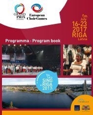 European Choir Games 2017 - Program Book