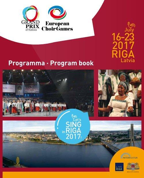 European Choir Games 2017 - Program Book