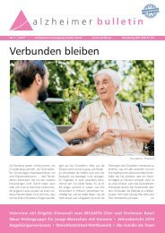 Verbunden bleiben – Alzheimer-Bulletin 1/2017