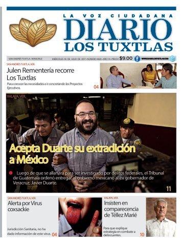 edición de diario los tuxtlas del día 05 de julio de 2017
