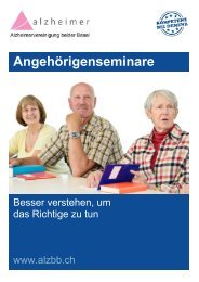 Seminare für Angehörige von Menschen mit Demenz