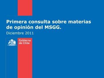 Primera consulta sobre materias de opinión del MSGG. - Ministerio ...