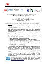 Nelspruit Declaration on Cooperation in Wildland Fire Management ...