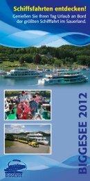 Fahrplan 2012 - Personenschifffahrt Biggesee