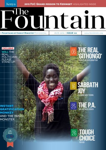 The Fountain magazine Issue 04, August 2016