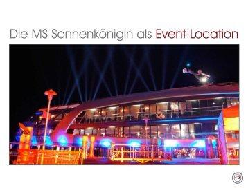 Die MS Sonnenkönigin als Event-Location - R ag