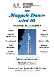 Der Maypole Dance Maypole Dance wird 40 ... - Dip-N-Divers