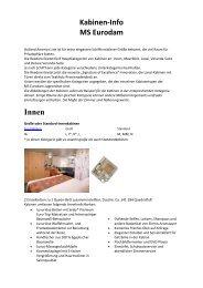 Kabinen-Info MS Eurodam Innen - Master Cruises & Tours