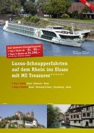 Luxus-Schnupperfahrten auf dem Rhein ins Elsass mit MS ...