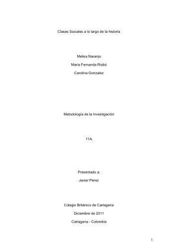 Humanidades_Clases Sociales a lo largo de la Historia